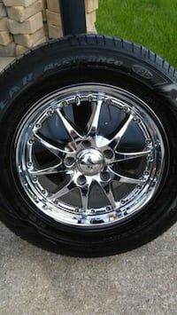 4 Goodyear tires with chrome rims and locks Chicago, 60652