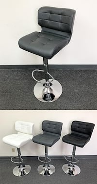 New $45 each Adjustable Swivel Bar Stool Dining Chair with Thick Cushion Seat & Backrest, 3 Colors 2259 mi