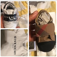Baby boy authentic Givenchy Shirt 18m& Sneakers 3c Burberry sneakers 2