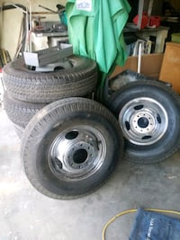 tires and rims. Set of 6  2286 mi