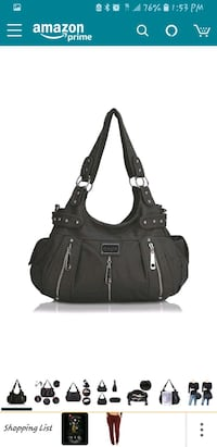Scarleton Black Purse