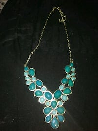 silver and teal beaded necklace Austin, 78728