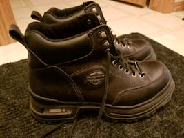 LEATHER HARLEY BOOTS