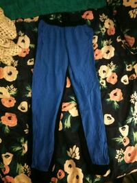 blue and black floral pants Anderson, 96007