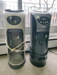 Two humidifiers with extra filters