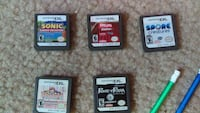 Five assorted Nintendo DS game cartridges Independence, 97351