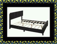 Queen bed platform bed with mattress 27 km
