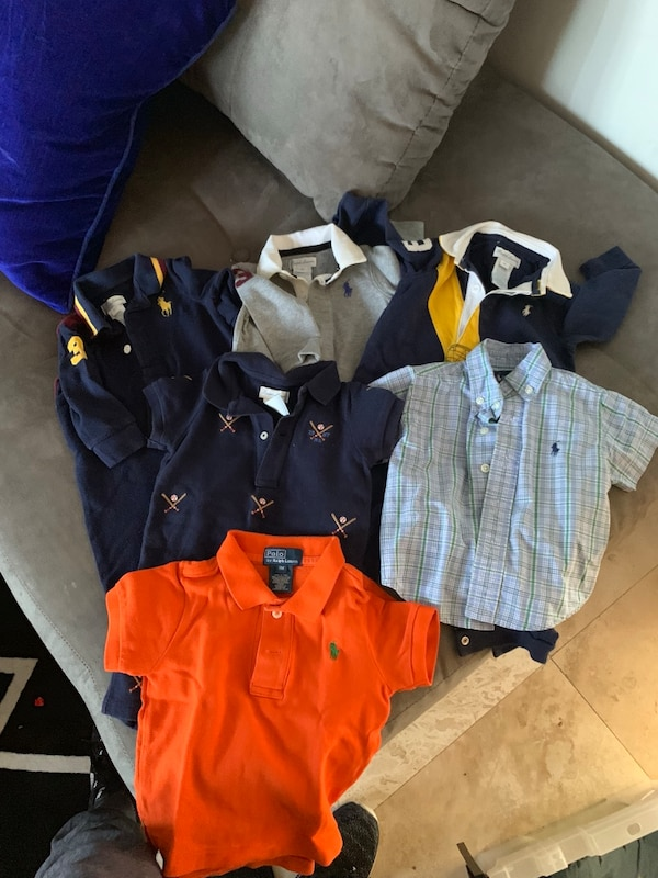 assorted-color polo shirt lot
