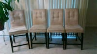 4 pc. Counter height Dining table chairs Silver Spring
