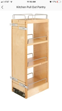 Rev-a-shelf wall pull out pantry