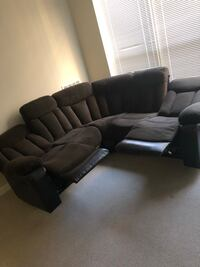 black leather sectional sofa with ottoman Washington, 20019