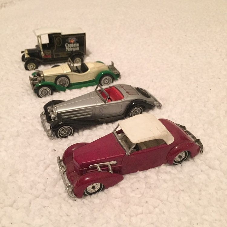 Lot of 4 Vintage 70's Diecast Model Cars