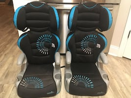 EvenFlo pair of BOOSTER seats