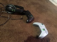 Two Xbox One Controllers And turtle beach headset  St. Catharines, L2M 6T3