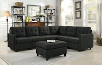 tufted gray fabric sectional sofa Grand Terrace, 92313