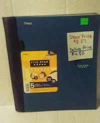5 subject notebook Manteca