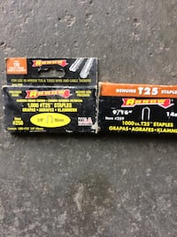 Arrow type t25 staples. With stapler for wires Aurora, L4G 7K5