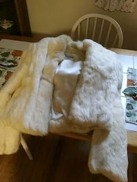 white rabbit fur coat by wilsons Rockville, 20852