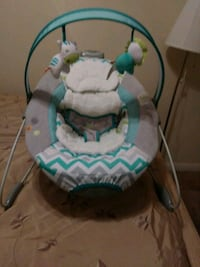 baby's white and green bouncer Bakersfield, 93307