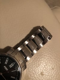 Round silver-colored chronograph watch with link bracelet Hamilton, L8K 5N2