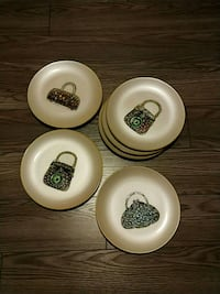 Decorative plates, 6 pcs