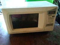 white and black microwave oven Mayflower, 72106