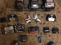 Assorted remote control vehicles with remotes not paired  Union Bridge, 21791