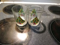 2 Action Christmas glasses from 1992 Summerville