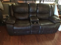 Black leather home theater sofa Louisville, 40211