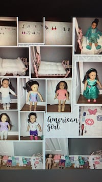 American Girl doll with 7 outfits and princess bed. Plus all accessories shown.  529 km