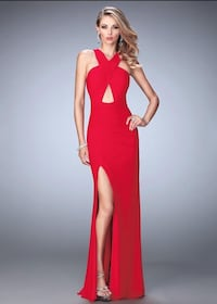 Red Keyhole Prom Dress with Slit (Accepting Offers!) Fontainebleau