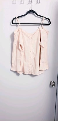 Nordstrom PEACH NUDE Cold Shoulder Blouse Top  North York, M3K 2C1