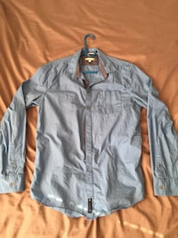 Men's gray button-up sport shirt Paramus, 07652