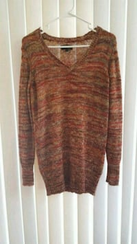 brown knit v-neck sweater Temecula, 92590
