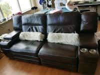 Phenomenal Used Brown Leather Couch For Sale In Seattle Letgo Machost Co Dining Chair Design Ideas Machostcouk