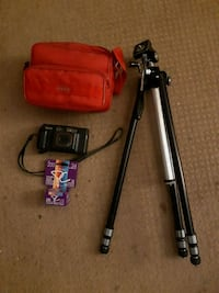 Camera with tripod pod and case  Coquitlam, V3K 4X7