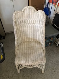 White wicker chair North Las Vegas, 89081