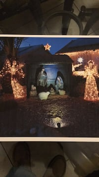 Outdoor Nativity with Stable