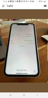 iPhone xs 64gb Black Used Sprint LCD Problems