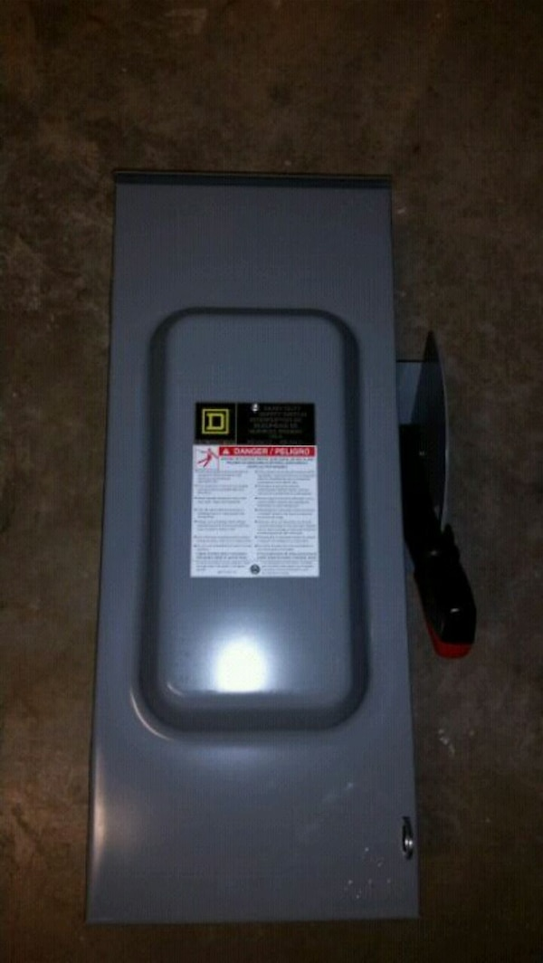 Used Square D 200a 240v 1 Phase Outdoor Disconnect Fus For