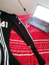 black and red Adidas sweatpants 55 km