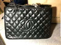 quilted black leather tote bag 2387 mi
