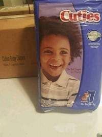 Size 7 Cuties diapers pack of 4 bags.  Germantown, 20874