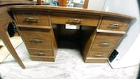 Vintage wood desk Burlington