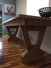 Hand made solid white oak farmhouse table Abbotsford, V4X