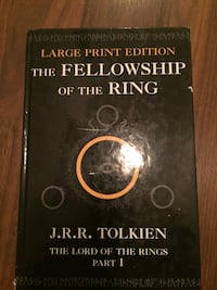 LARGE print the fellowship of the ring book 2002