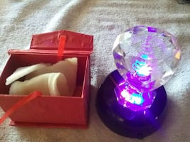 4 Colors Heart Glass Birthday Etched Light Display & Storage Box