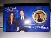 Royal Wedding Coin - William & Kate - Toronto Star Coin from 2012 Toronto, M9C 1R6