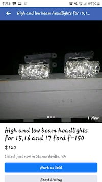 High and low beams for a ford f-150  Stanardsville, 22973