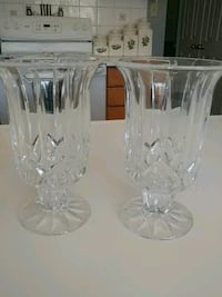 two clear cut vases Pickering, L1X 2G9